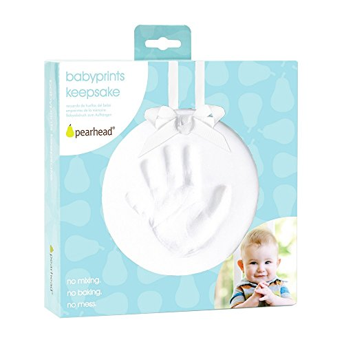 31EUjAqr0HL Pearhead Babyprints Baby Handprint or Footprint Keepsake Ornament - Makes A Perfect Baby Shower Gift, Year-Round