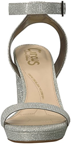 Sandal by Mesh Silver Sam Circus Women's Heeled Petillant Edelman Annette SaxTqR