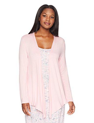 (Amazon Brand - Arabella Women's Open Cardigan,Powder Pink,Large)