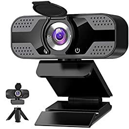 Webcam with Microphone for Desktop, 1080P HD USB Computer Cameras with Privacy Shutter&Webcam Tripod, Streaming Webcam…