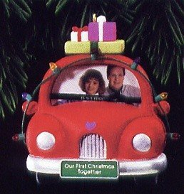 Hallmark Keepsake Ornament 1995 OUR FIRST CHRISTMAS TOGETHER CAR PHOTO HOLDER (First Christmas Ornament Car)