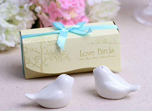 Herb & Spice Tools | 100Pcs Love Bird Salt And Pepper Shaker Wedding Favors Gifts 2Pcs/Box 7Color | By ATUTI by ATUTI