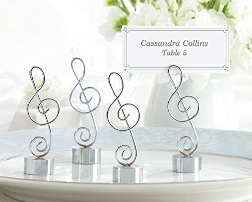 Love Songs Silver-finish Music Note Place Card/photo Holder (Set of 4) (26)