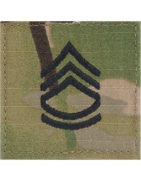 (Multicam OCP Rank Insignia Fastener- Sergeant First Class SFC)