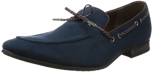 AN Mens Driving Shoes Casual Shoes Opera Loafer Suede Feel Slip on Navy 43 EU (US Mens 10 M)