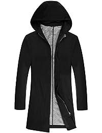 Men's Casual Jacket Full Zip Lightweight Ourwear Pure Black 1919 1915