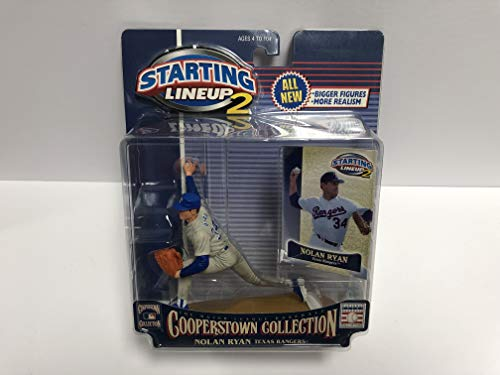 (Nolan Ryan Texas Rangers Cooperstown Collection 2000 SLU Toy Action Figure with Trading Card )