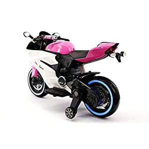 STREET RACER NEW DUCATI MOTORCYCLES STYLE 12V ELECTRIC KIDS RIDE-ON MOTORCYCLE | PINK