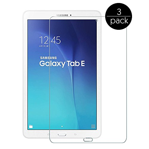 FanTEK Screen Protector Work for Samsung Galaxy Tab E 8.0 8-Inch, SM-T377 (Sprint/US Cellular/Verizon) Ultra Thin Crystal Clear High Definition Anti-Bubble Cover Guard Screen Protector, 3 Pack