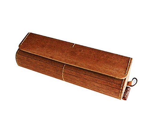 Genuine Wooden Eyeglasses Case Made From Real Natural Wood Unique and Exclusive Design Handcraft Eco Friendly (Natural Shells Needlepoint)