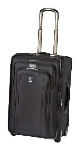 Travelpro Luggage Crew 9 24-Inch Expandable Rollaboard Suiter Bag, Black, One Size, Bags Central