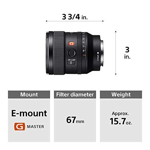 Amazon.com : Sony E-mount FE 24mm F1.4 GM Full Frame Wide-angle ...