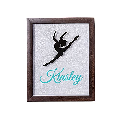 Getname Necklace Custom Shadow Box Dance Shadowbox - Competition Pin Shadow Box - Dancer Frame Dancer Decor - Personalized Dance Pin Display Case Recital Gift