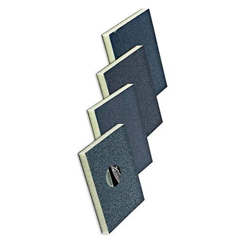 (Multipack) PIKE & CO.® Double-Sided Sanding Sponge Grit: 220 [Pack of 6] w/Min 3yr Warranty Pike & Co.®