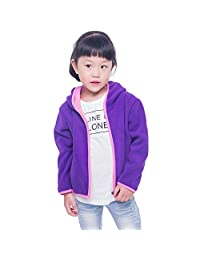 Toddlers' Polar Fleece Hooded Jacket Thermal Outerwear Coats for Kids Boys& Girls