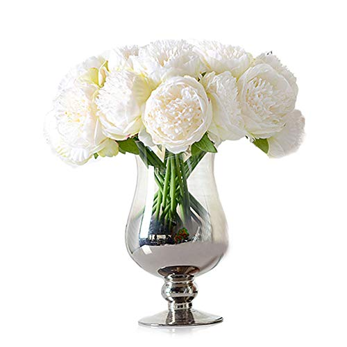 Newest trent 1Bouquet 5 Heads Artificial Peony Silk Flower Leaf Home Bridal Wedding Party Festival Bar Decor