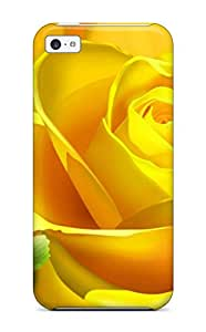 Fashion Protective Yellow Rose Flower Case Cover For Iphone 5c