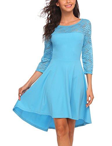 3 4 sleeve a line dress - 2