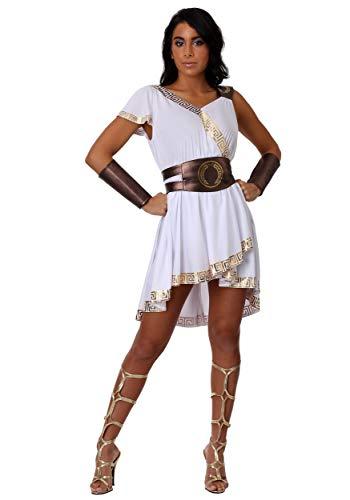 Women's Olympian Warrior Costume Large White