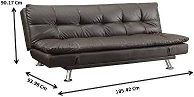 Dilleston Sofa Bed in Futon Style Brown