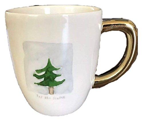 Rae Dunn Ceramic Christmas Holiday Tis The Season Mug and Dessert Plate Set Artisan Collection