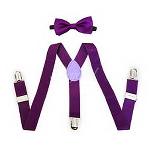 Scott Allah design - Accessories Purple Suspender and Bow Tie Set for Baby Toddler Kids Boys Girls (Batman Toddler Suspenders)