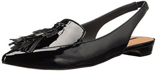 Cuir Chaussure Verni Noir Paulina Plate Tahari Tahari Paulina XqIftt