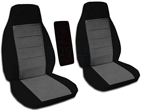 Totally Covers Fits 2004-2012 Ford Ranger/Mazda B Series Two-Tone Truck Bucket Seat Covers with Center Armrest Cover: Black & Charcoal (21 Colors) 2005 2006 2007 2008 2009 2010 2011