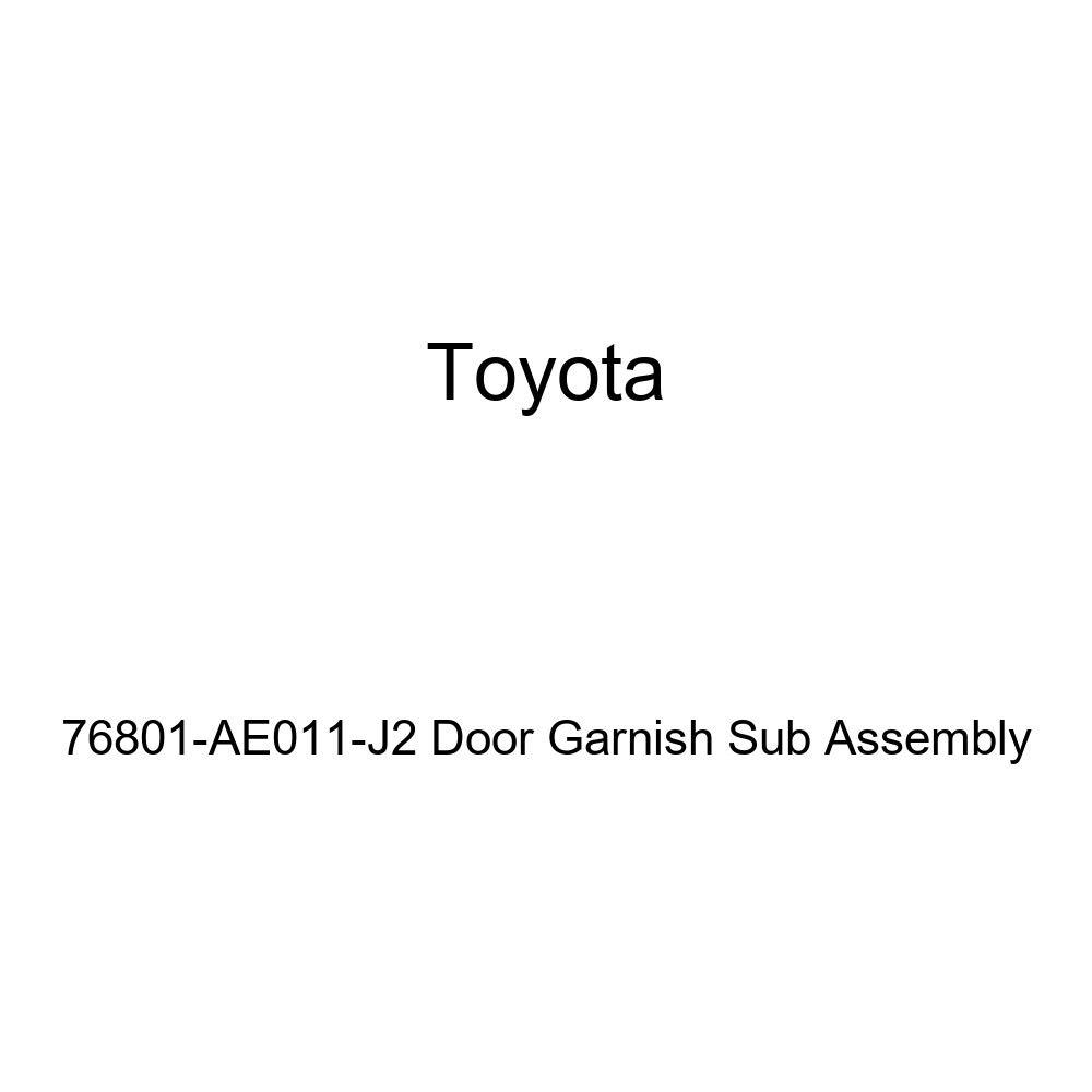 Genuine Toyota 76801-AE011-J2 Door Garnish Sub Assembly