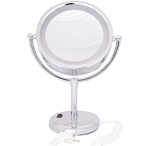 DXP LED Beleuchtet Kosmetikspiegel Schminkspiegel Standspiegel tragbar 3 Fach Vergrößerung ROHS YTL9100