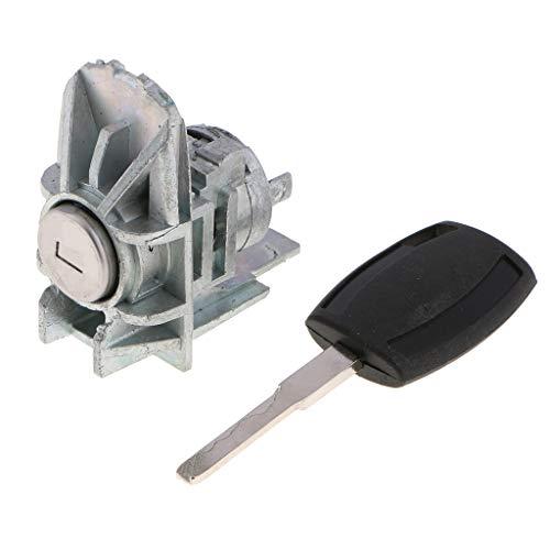 B Blesiya Driver Side/Car Front Left Door Lock Cylinder w/Key for Ford Focus 06-10