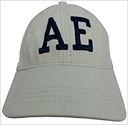 f49ed09b031ba Amazon.com  L XL - American Eagle Outfitters Cream   Navy Embroidered AE  Baseball Cap (8438565760909)  Books