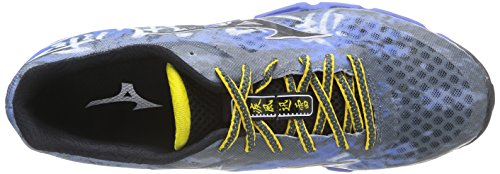 Mizuno Wave Hayate Scarpe Sportive, Uomo, Turbulence/Black/Turkishsea Turbulence/Black/Turkishsea