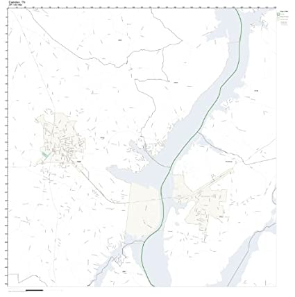 Amazon.com: ZIP Code Wall Map of Camden, TN ZIP Code Map Not ... on