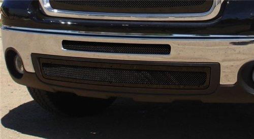 TRex Grilles 52206 Upper Class Small Mesh Steel Black Finish Bumper Grille Bolt-on for GMC Sierra 1500