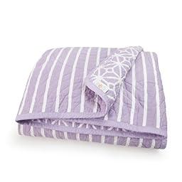 CoCaLo Mix & Match Trellis/Candy Stripe Coverlet, Violet