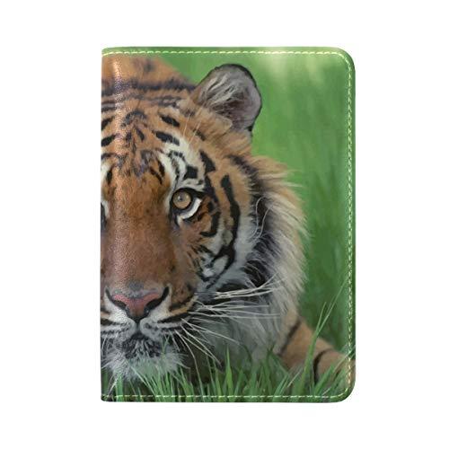 Jojogood Bengal Tiger Desktop Image Genuine Leather UAS Passport Holder Cover Travel Case
