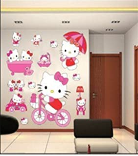 9e60dfe8a Hello Kitty Wall Stickers Room Decoration Large Set of stickers Art Decal  Hello Kitty
