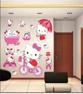 enfants stickers muraux grand hello kitty autocollants filles chambre de mur chambre decor - Lustre Hello Kitty Chambre