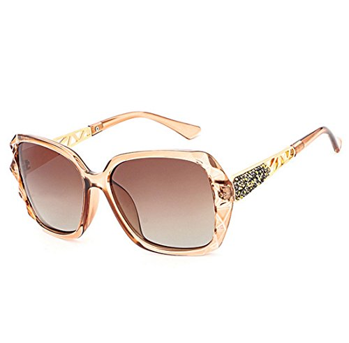 Coreana Versión Light High Purple QQBL Resina para PC UV400 De Gafas Sol Perspective Visible Brown End Polarizadas UV De Anti Lady Elegante 99 F56wqwWAdx
