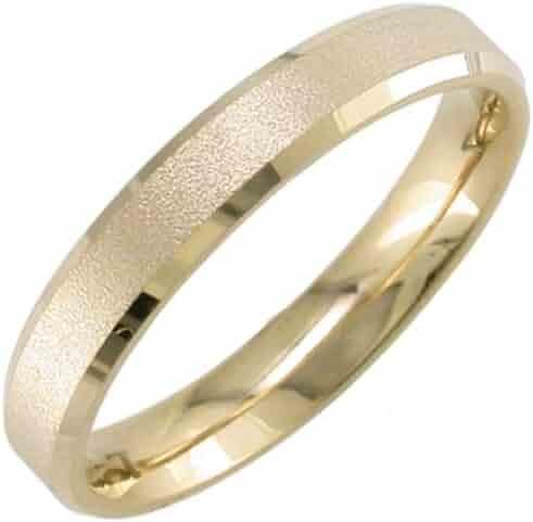 14K Gold Milgrain Edge Men's Comfort Fit Wedding Band (4mm)