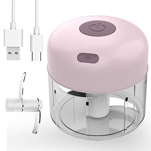 Electric Mini Garlic Food Chopper, Portable Cordless Blender Processor, Waterproof Slicer Spice Grinder, Powerful Mincer…