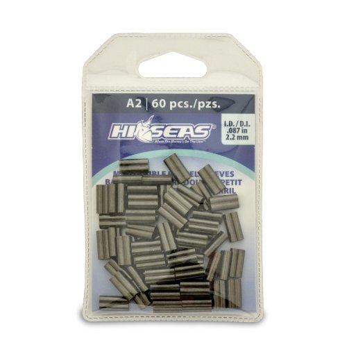 (Hi-Seas Mini Double Barrel Copper Crimp Sleeves (2.2 Millimeter) by Hi-Seas)