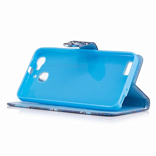 Yiizy Huawei Enjoy 5s / Huawei GR3 Custodia Cover, Nuotata Anello Design Sottile Flip Portafoglio PU Pelle Cuoio Copertura Shell Case Slot Schede Cavalletto Stile Libro Bumper Protettivo Borsa