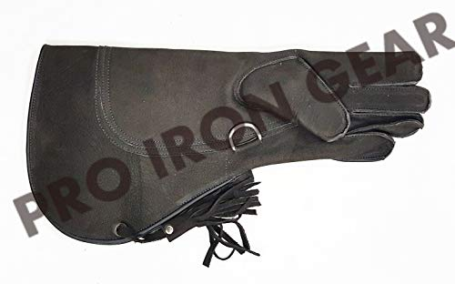 PRO IRON GEAR Falconry Nubuck Leather Eagle Glove Size L 17 INCH