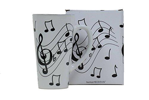 - Musical Note Jazz Ceramic Coffee/Tea Travel Mug Treble Clef - 16 Oz