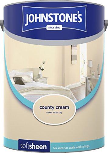 Johnstone's 304187 5 Litre Soft Sheen Emulsion Paint - County Cream