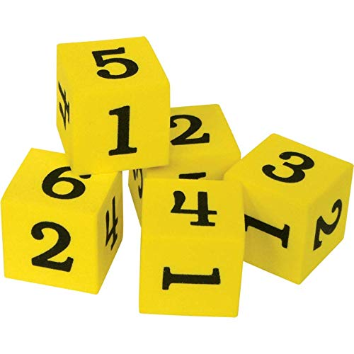 (Teacher Created Resources Foam Numbered Dice (20604))