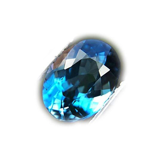 Lovemom 2.02ct Natural Oval Irradiation London Blue Topaz Brazil #R