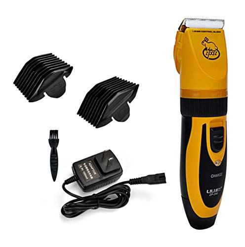 Dog Clippers Low Noise Rechargeable Cordless Dog Trimmer Pet Grooming Clippers Professional Dog Shaver Detachable Blade with 2 Comb Guides for Small Medium Large Dogs Cats and Other House Animals